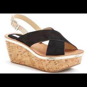 Diane Von Furtensberg maven wedge sandals Size 6.5